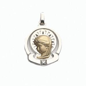 Medalla Oro 18k Plata y Brillante  307-1 Finor