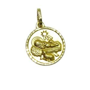 Medalla para bebé de oro amarillo de 18Ktes.13mm Never say never