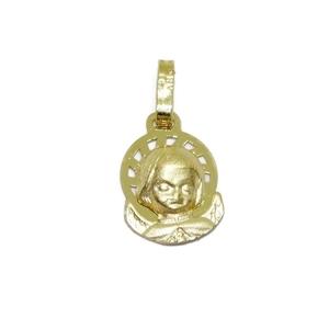 Medalla para bebé de oro de 18ktes angelito de la guarda. 1cm sin el asa Never say never