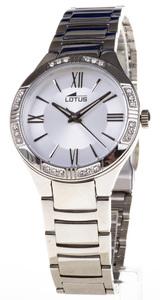 Reloj Lotus acero cadena circonita bisel 18387-1