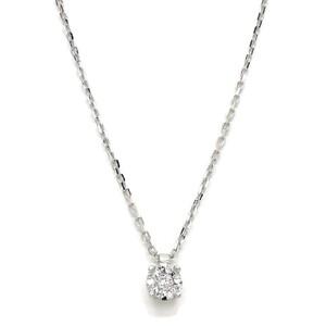NEVER SAY NEVER collar con de 0.05cts diamantes y oro blanco de 18Ktes