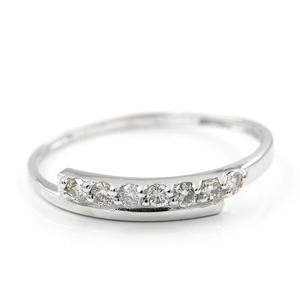 Oro blanco de 750 milésimas/18kt - Sortija - 7 Diamantes talla de brillante de 0,20 kts - Talla de la sortija 17 M490/S-B