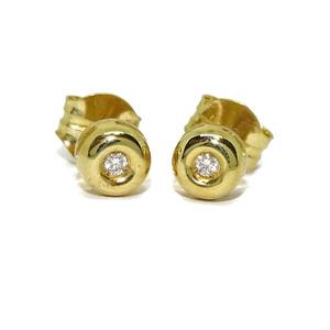 Pendientes de 0.08Cts de diamantes y oro amarillo de 18Ktes.  Never say never