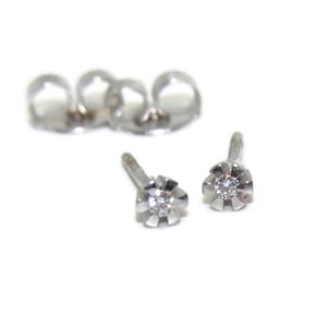 Pendientes de 0.07ctes de diamantes en oro blanco de 18Ktes Never say never