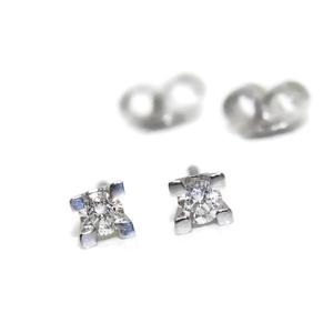 Pendientes de 0.20cts de diamantes y oro blanco de 18Ktes Never say never