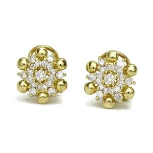 Pendientes de diamantes de 0.82cts y oro amarillo de 18cts. Cierre omega 1.20cm de diámetro Never say never
