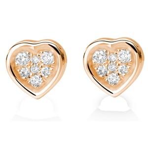 Pendientes de oro rosa y diamantes. CNE-0041/121 Oreage
