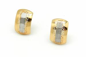Pendientes de oro señora bicolor