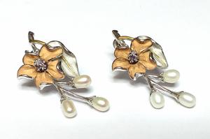 pendientes de plata y oro chapado - Propia - PTE/IRIS