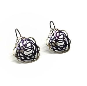 Pendientes Plata Fink orfebres esmaltados en tonos lilas T13732