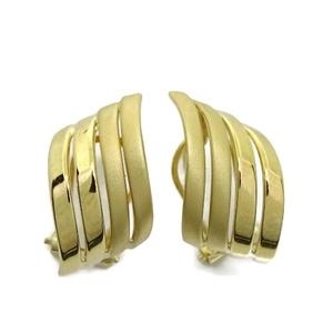 NEVER SAY NEVER Pendientes de oro amarillo de 18ktes mate y brillo. omega
