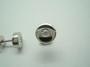 Pendientes Oro blanco y Diamantes. B-149 B-79