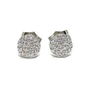 Pendientes para Mujer de Oro Blanco de 18k con 0.35cts de Diamantes, 7mm de diámetro Never say never