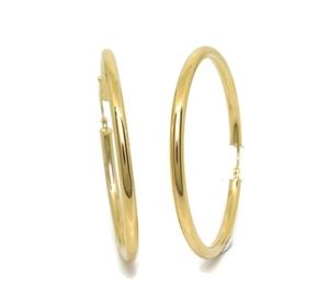 Pendientes aro de oro amarillo de 18Ktes de 3mm de ancho por 4.5cm de diametro  exterior Never say never
