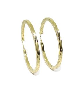 Pendientes aros grandes de oro amarillo de 18k de 2.5mm de anchos y 4.50cm de diámetro exterior Never say never