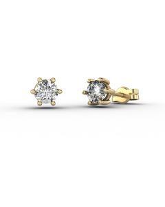 Pendientes de Oro amarillo 18 Kt con Diamantes 0,40 quilates Cresber