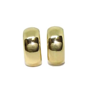 pendientes de oro amarillo brillo de 2.00cm de altos por 8mm de anchos con cierre omega Never say never