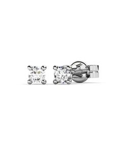 Pendientes de Oro blanco con Diamantes 0,04 quilates Cresber