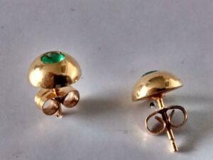 Pendientes Esmeraldas  y Oro 18 ktes