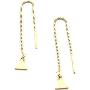 Pendientes long tringle gold