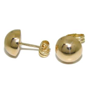 Pendientes media bola de oro amarillo de 18Ktes de 8mm Never say never