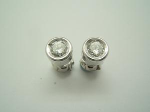 Pendientes oro blanco y Diamantes B-79