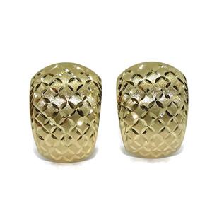 Pendientes para señora de oro amarillo de 18k mate y brillo grandes con cierre omega. 4.45gr de oro  Never say never