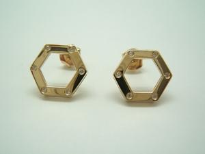 Pendientes Oro amarillo y Diamantes B-79