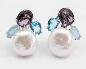 Pendientes perla y cuarzo  OEPERLACUARZO PATRICIA ARLÀ