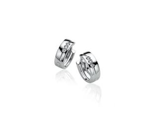 Pendientes Plata y Diamante Zinzi ZDO387