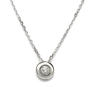 Collar con un diamante de 0.10cts y oro blanco de 18ktes.40cm  Never say never