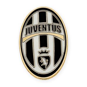 Pin con motivo del Juventus realizado en oro amarillo de 750 milésimas (18kt) con esmalte de los colores del equipo