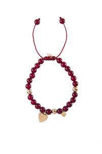 Pulsera ágatas rojas y plata rosa OB16 PATRICIA ARLÀ