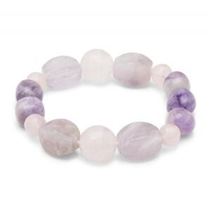 Pulsera Alos plata jade morado y cuarzo rosa Luxenter BXA086728