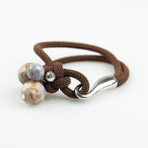Pulsera cordón con pendants de ágata india PU260 Patricia Garcia