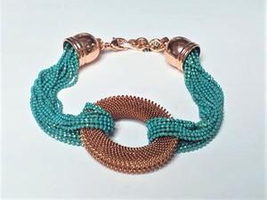 pulsera de metal chapado en oro rosa - Propia - 12630