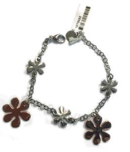 Pulsera plata flores 1070022 Aquaforte