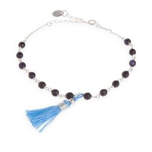 Pulsera Sihar plata y aventurina azul Luxenter BXA027149