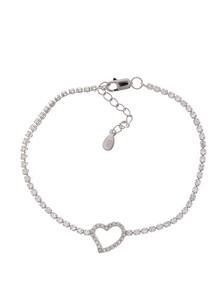 Pulseras Corazón Zirconium 8435402146612 Lua Blanca