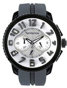 reloj de 50mm caja negra y correa de goma gris 2302046016 Tendence