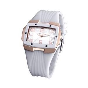 reloj acero pvd rosa correa caucho blanca tf3135l11 Time Force