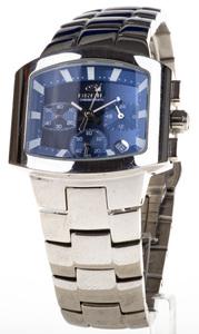 Reloj Breil Acero Esfera cuadrada azul multifunción Saetas fluorescentes Segundero 2519750519