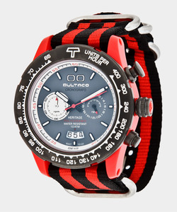 Reloj Bultaco MK1 Polyceramic 43 Chrono Red Grey -T5 H1PR43C-CA1-T5