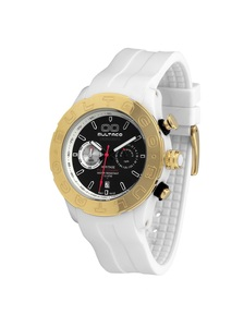 Reloj Bultaco MK1 Polyceramic 43 Chrono White Green Gold H1PW43C-CV1