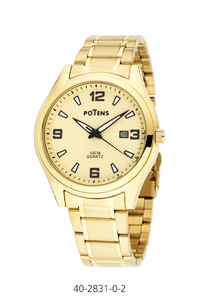 Reloj caballero Potens chapado en oro  40-2831-0-2