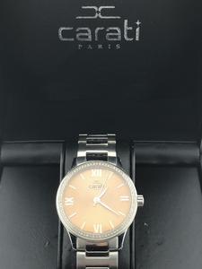 Reloj Carati Paris swiss made con diamantes wn/bla-11