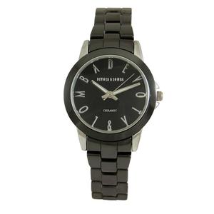 Reloj cerámica negro mujer 8435432513040 Devota & Lomba