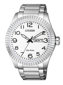 Reloj CITIZEN ECO DRIVE HMBRE ACERO DOBLE CALENDARIO BM8530-89A
