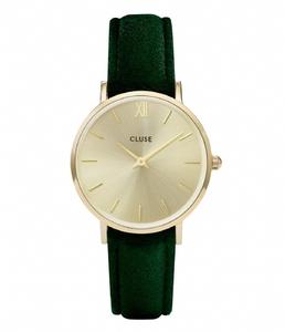 Reloj Cluse CL30040 dorado y correa verde