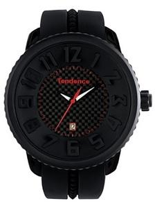 reloj de caja de 50mm de plastico y correa de goma negra 2302043019 Tendence
